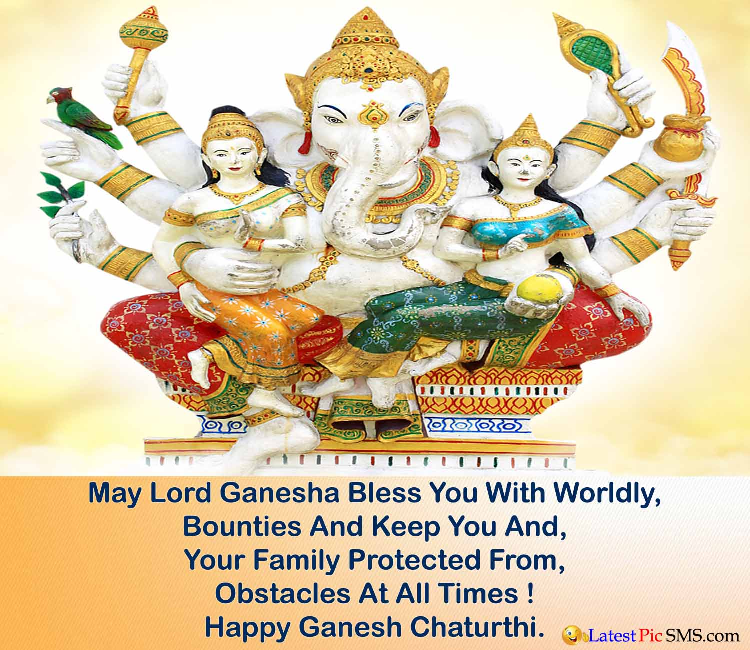 ganesh with ridhi sidhi picture