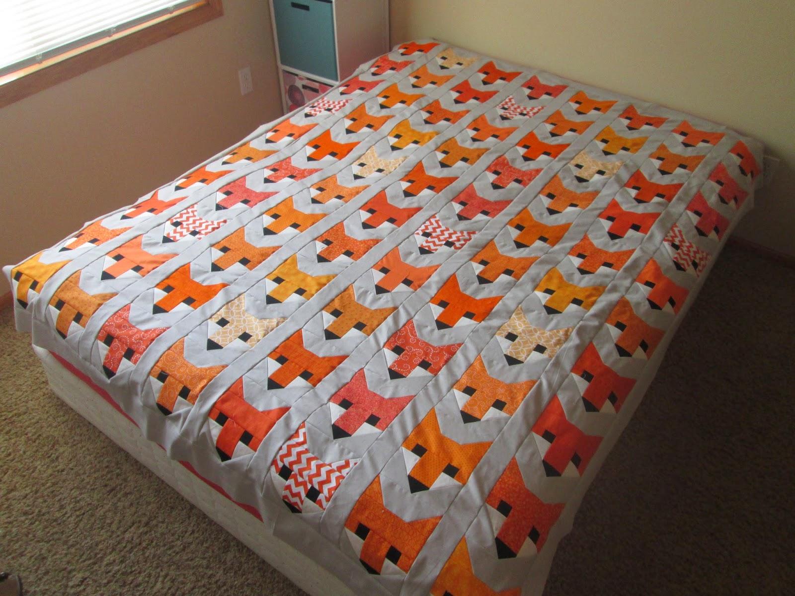 Free Crochet Fox Blanket Pattern : Thats Sew Julie: Crochet Blanket and Fancy Fox Top