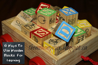 http://themommymix.blogspot.ca/2014/01/6-ways-to-use-wooden-blocks-for-fun.html