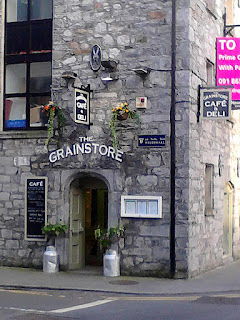 Picture of a cafe in Galway's stone Grain-store building
