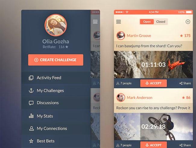 Flat App Screens UI for IOS 7