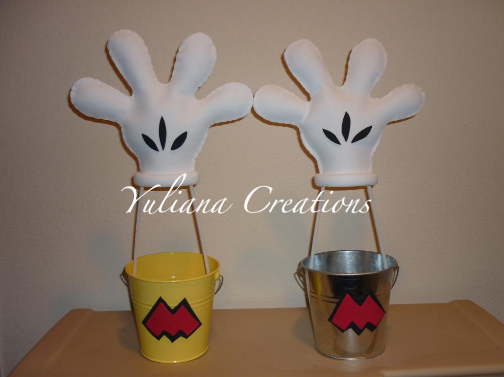 Originales cubetas de guante aerostatico (Mickey Mouse)