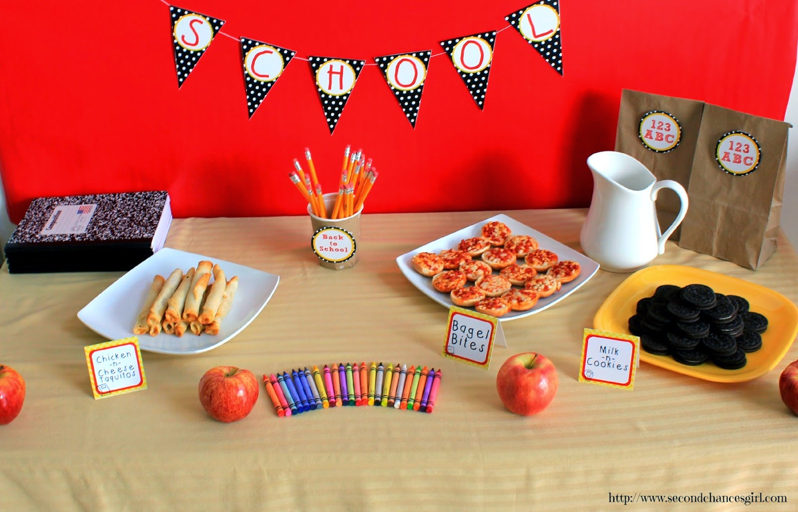 Back to School Snack Station with Free Printables! #AfterSchoolSnacks #shop