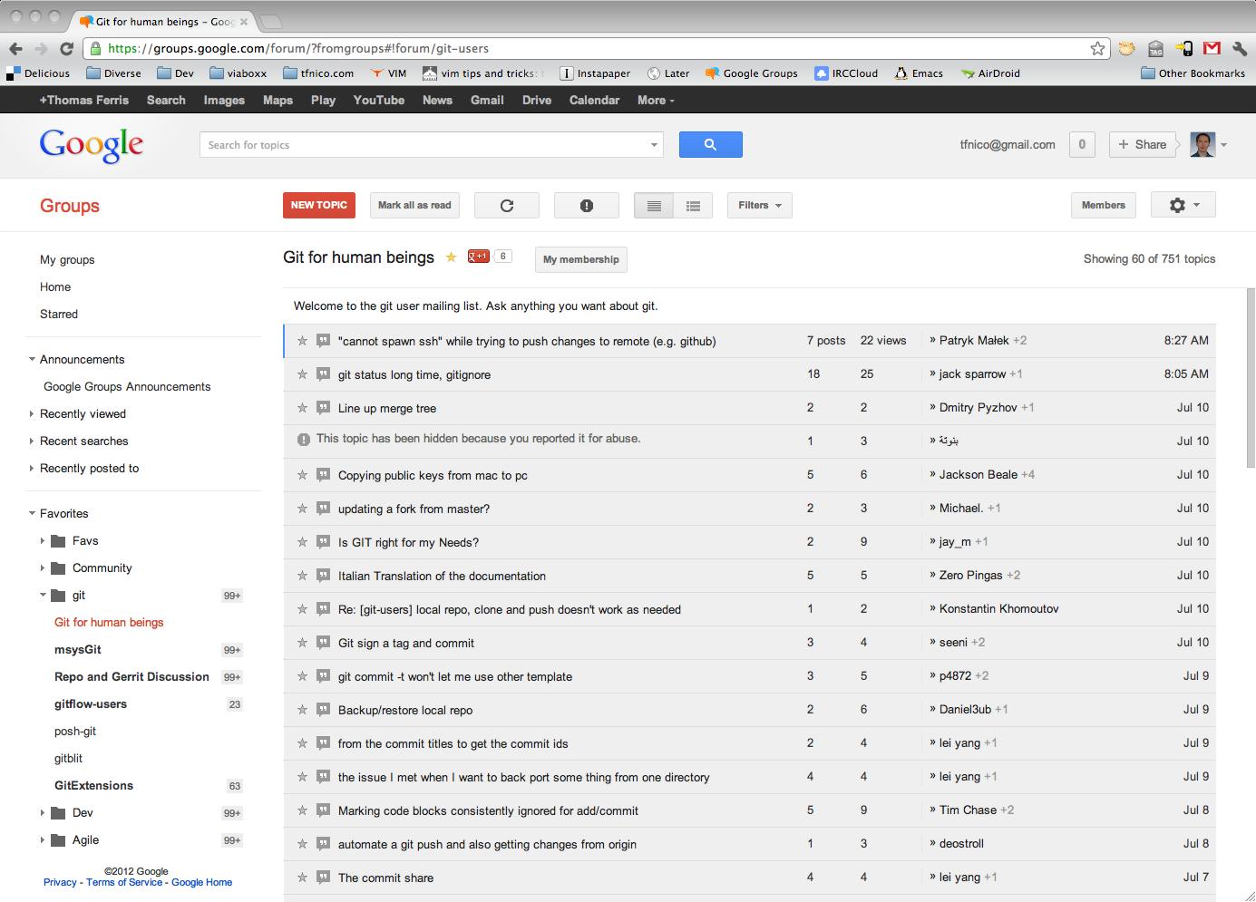 The Git Users Mailing List Dzone Java