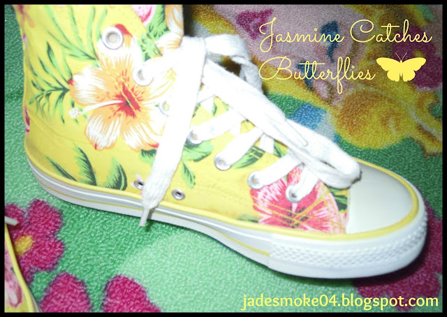 Yellow Floral Sneakers