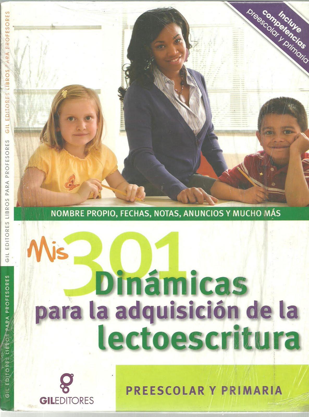 libro mis 301 dinamicas para la adquisicion de la lectoescritura