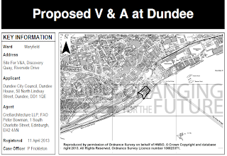 Proposed V and A at Dundee Site Map from planning committee report