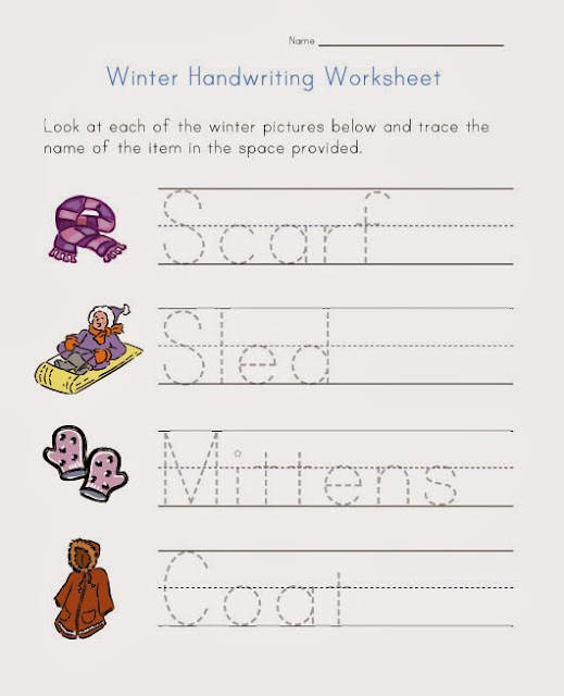 Worksheet Handwriting