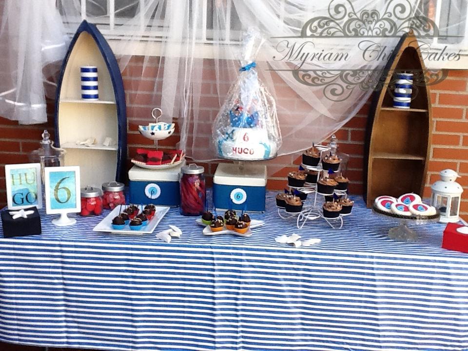 Myriam chic cakes mi primera mesa dulce for Mesa dulce marinera