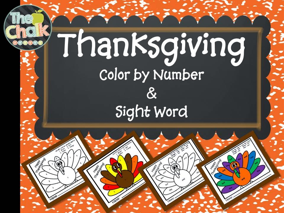 http://www.teacherspayteachers.com/Product/Thanksgiving-Color-by-Number-and-Sight-Word-1560175