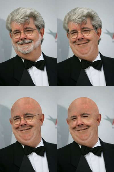 George Lucas Shaves Almost All Of His Head