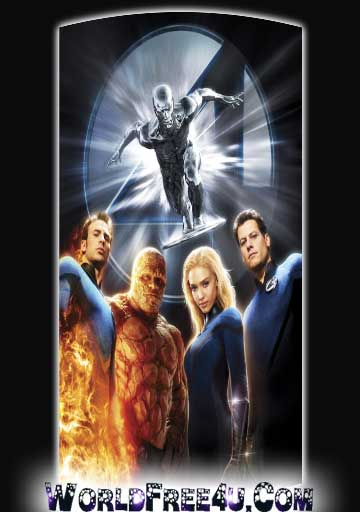 Poster Of Fantastic 4 Rise of the Silver Surfer (2007) In Hindi English Dual Audio 300MB Compressed Small Size Pc Movie Free Download Only At worldfree4u.com