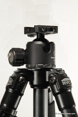Sunwayfoto XB-44 ball head on Benro A-296EX w/o center column