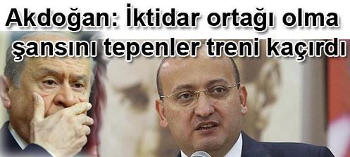 Yalcin Akdogan: iktidar ortagi olma sansini tepenler treni kacirdi