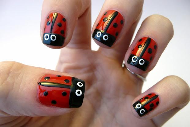 casa de polish ladybug nail tutorial