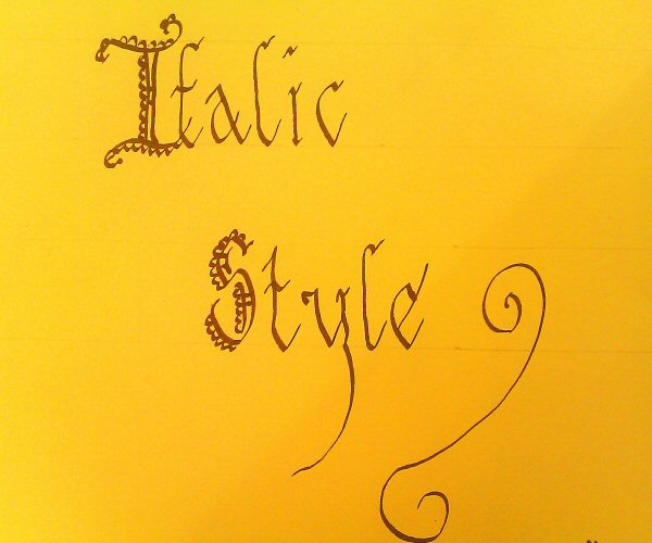 Calligraphy for beginners italic styles