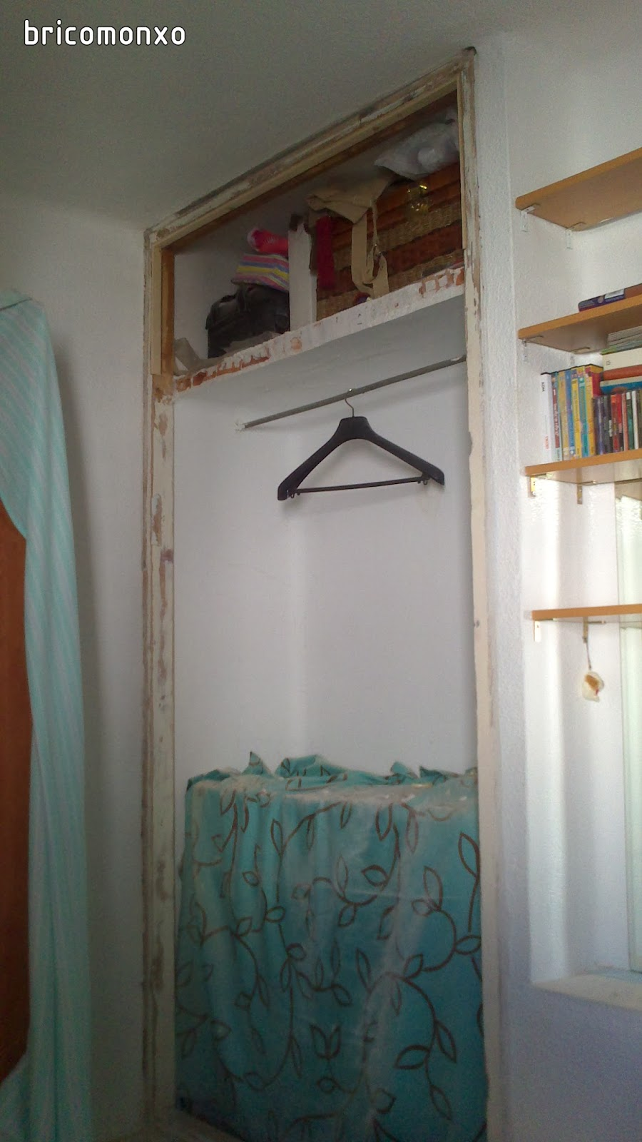 Bricomonxo armario empotrado con puertas correderas - Montar puertas correderas ...