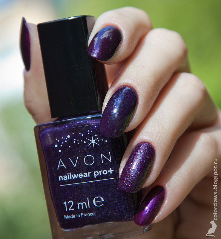 Bell Glam Wear #423, Avon Gel Finish Perfectly Plum, Avon Plum Seduction, Avon Starry Night, Catrice Crushed Crystals PLUMdogMillionaire, Avon Decadence