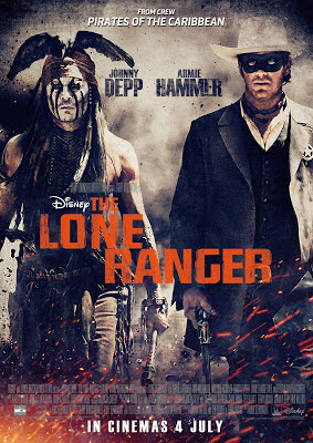 Disney's The LONE RANGER 2013 film large movie poster malaysia