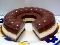gambar resep puding susu cokelat