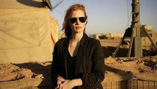 Jessica Chastain in a scene from Zero Dark Thirty