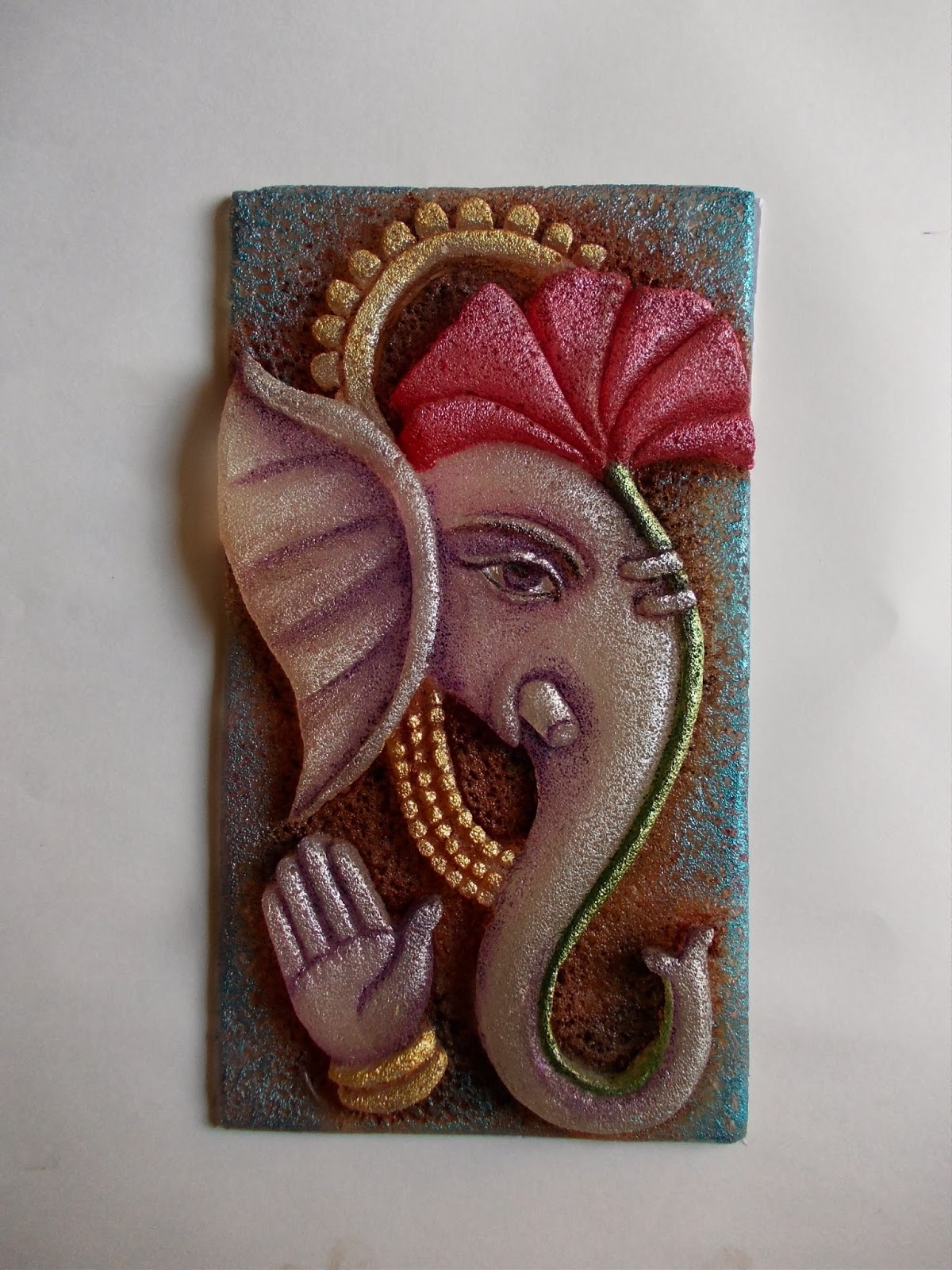 Mural art by datta vaidya for Clay mural designs