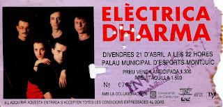 entrada de concierto de electrica dharma