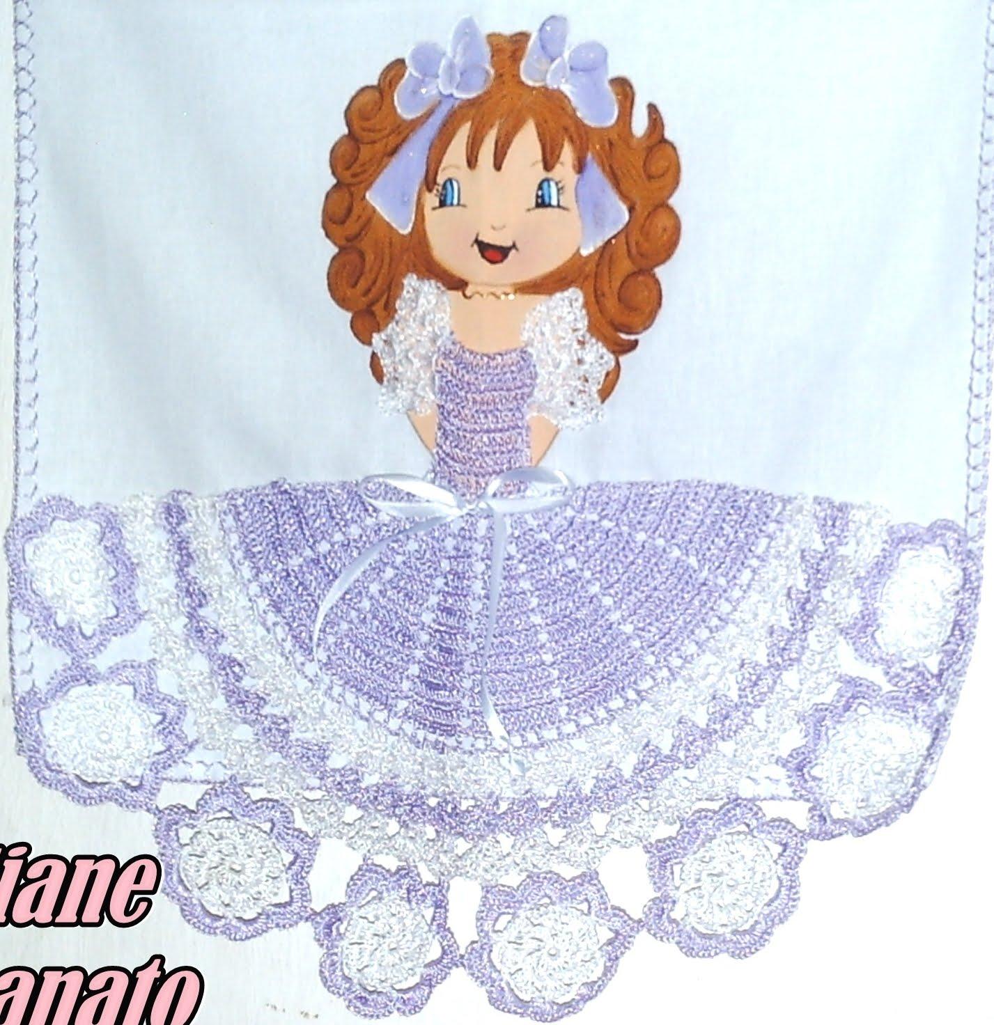 pano de copa boneca de vestido