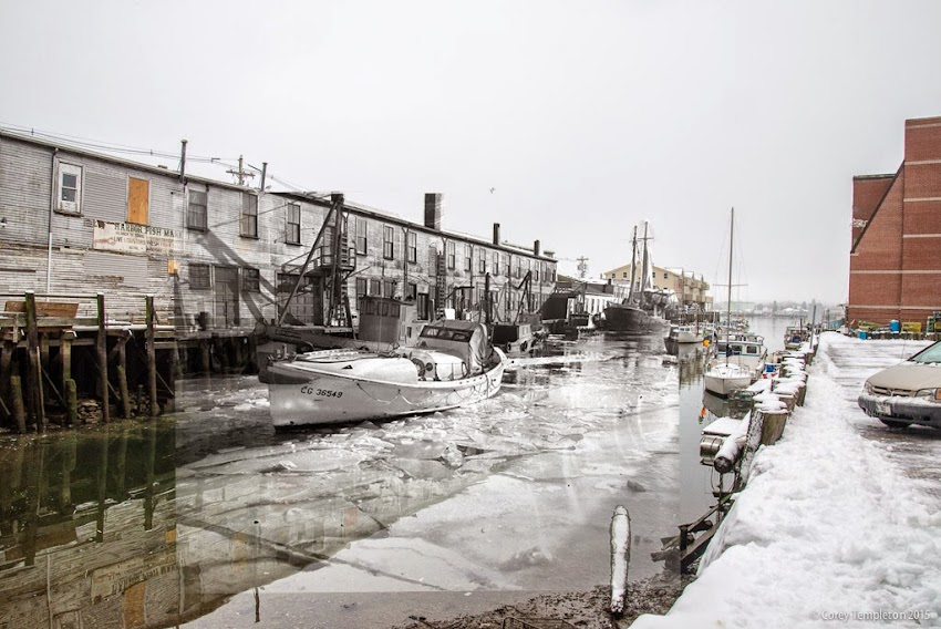 Portland, Maine January 2015 Custom House Wharf Old Port looking into the past photo by Corey Templeton
