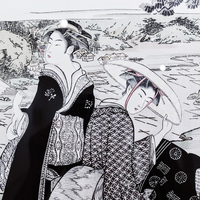 Ukiyoe Portraits exhibit - Tama River at Koya - Shuman Kubo
