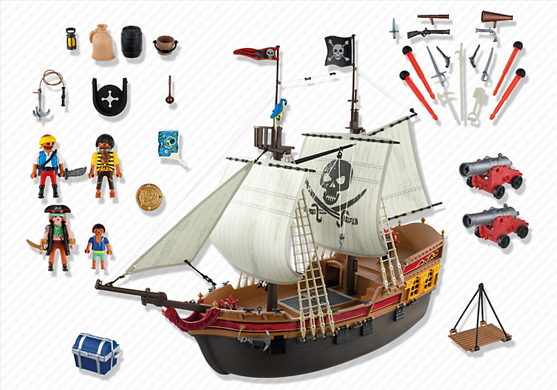 dioramas playmobil playmobil ref 5135 boite bateau d attaque des pirates. Black Bedroom Furniture Sets. Home Design Ideas