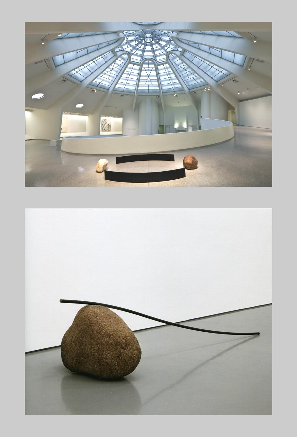 Cenários de Lee Ufan no Guggenheim