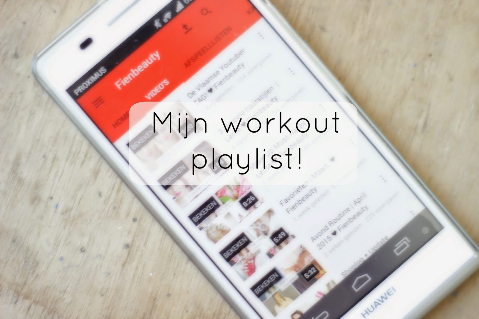 mijn workout playlist