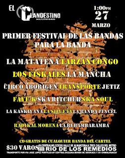 Primer Festival de las Bandas para la Banda