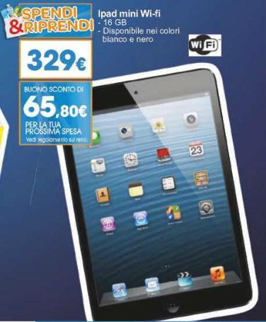 """Torna la promozione """"Spendi e Riprendi"""" da Carrefour sull'iPad Mini 16 GB Wifi che permette a chi fa la spesa abituale da loro un ottimi risparmio"""