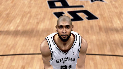 NBA 2K13 Tim Duncan Face with Beard Mod