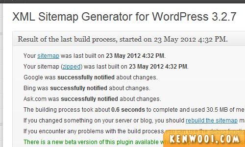 wordpress plugin xml sitemap