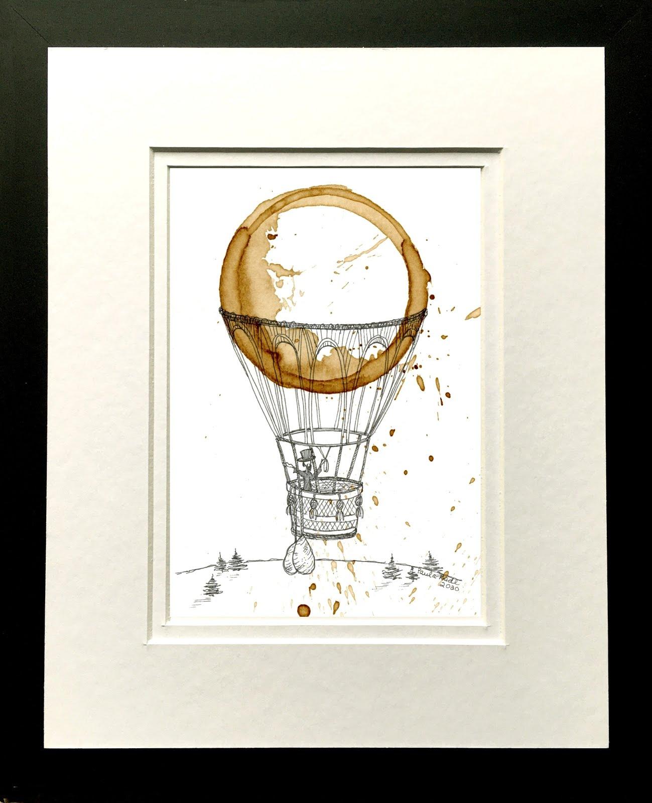 Paula Radl ORIGINAL Coffee Art For Sale -     Plum Bottom Gallery