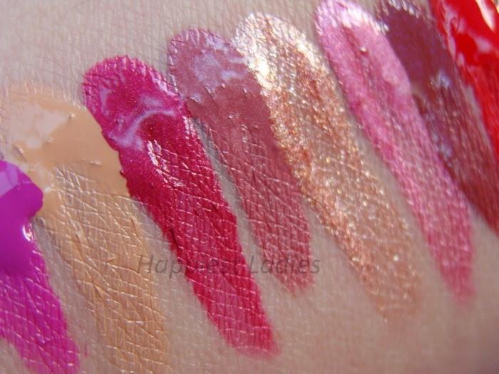 Maybelline 24Hr Lipstick swatches