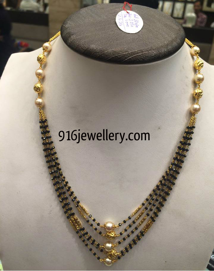 black spinel beads chain designs latest 2015 | 916 jewellery ...