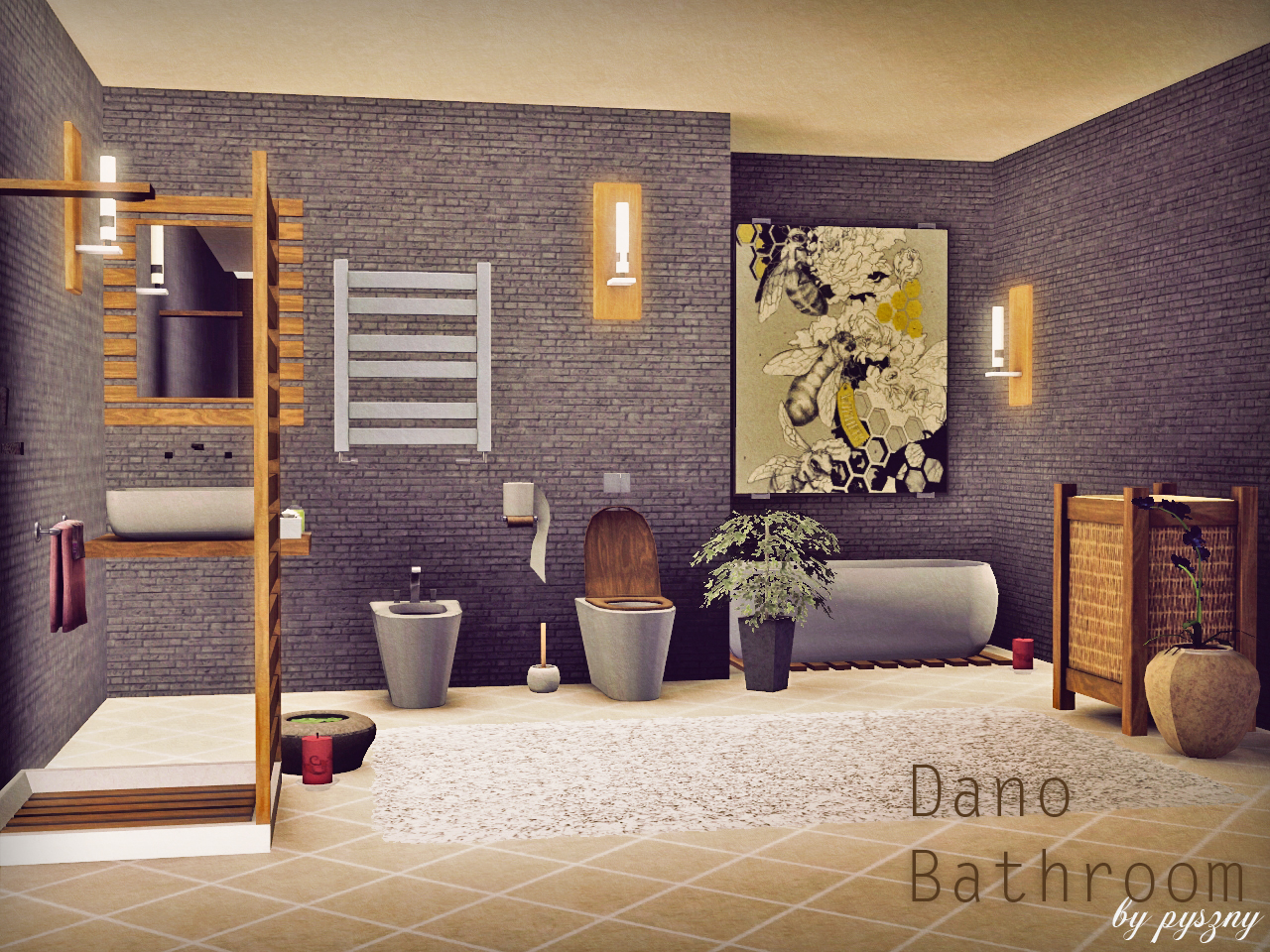 Sims 3 Bathroom Ideas - Dano bathroom