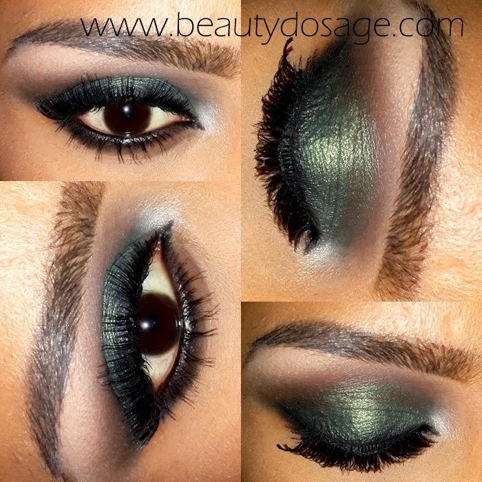Eotd Dark Green Smokey Eye Look Valentines Day Date Night Eye