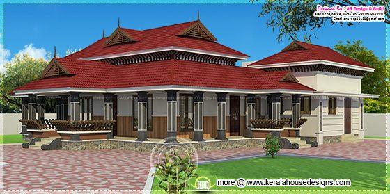 Kerala style single floor home