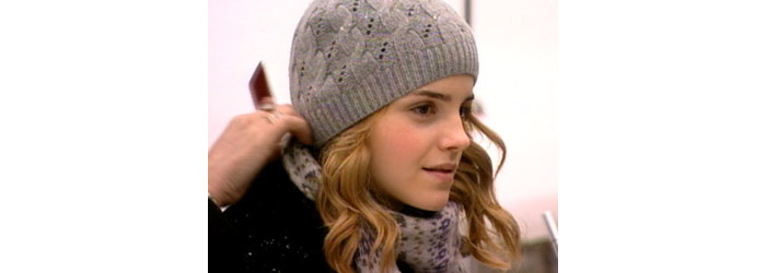 hermione's cable and eyelet hat