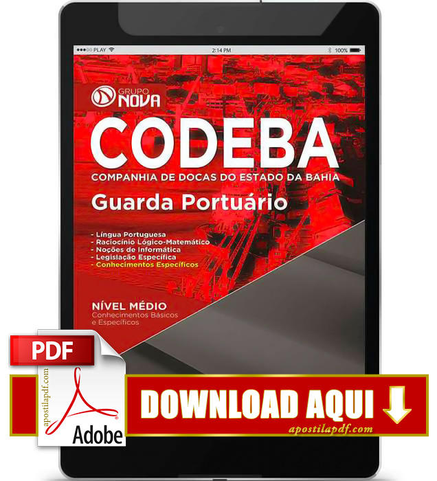 Apostila CODEBA 2015 PDF Download Guarda Portuário