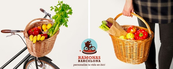 Complemento para bicicleta urbana: cesta de mimbre extraible