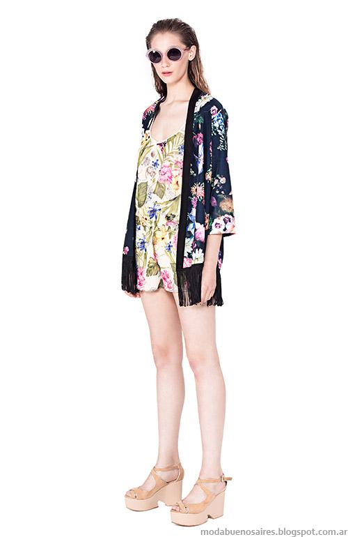 Kimonos primavera verano 2015 moda en ropa de mujer Basement.