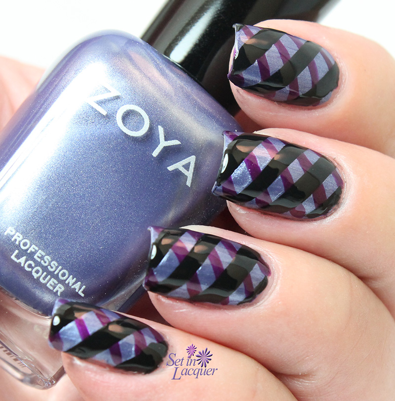 Diagonal Line Nail Art