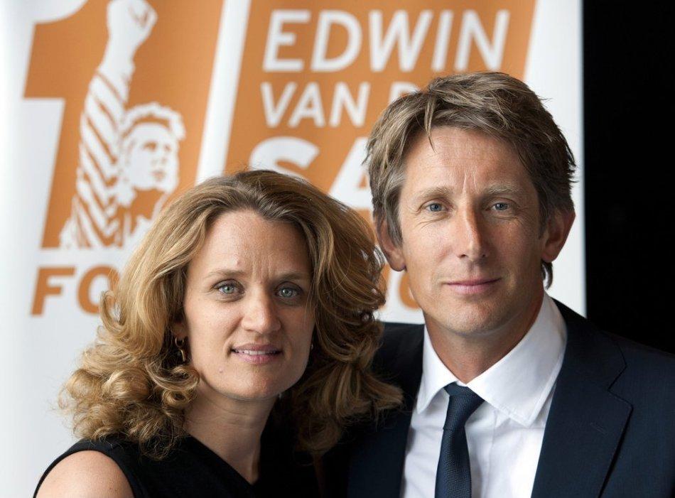Edwin Van Der Sar with friendly, charming, sweet, Wife Annemarie van Kesteren