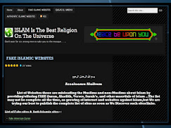 FAKE ISLAMIC WEBSITE
